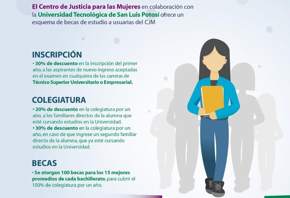CJM y UTSLP apoyan a mujeres con becas de estudio