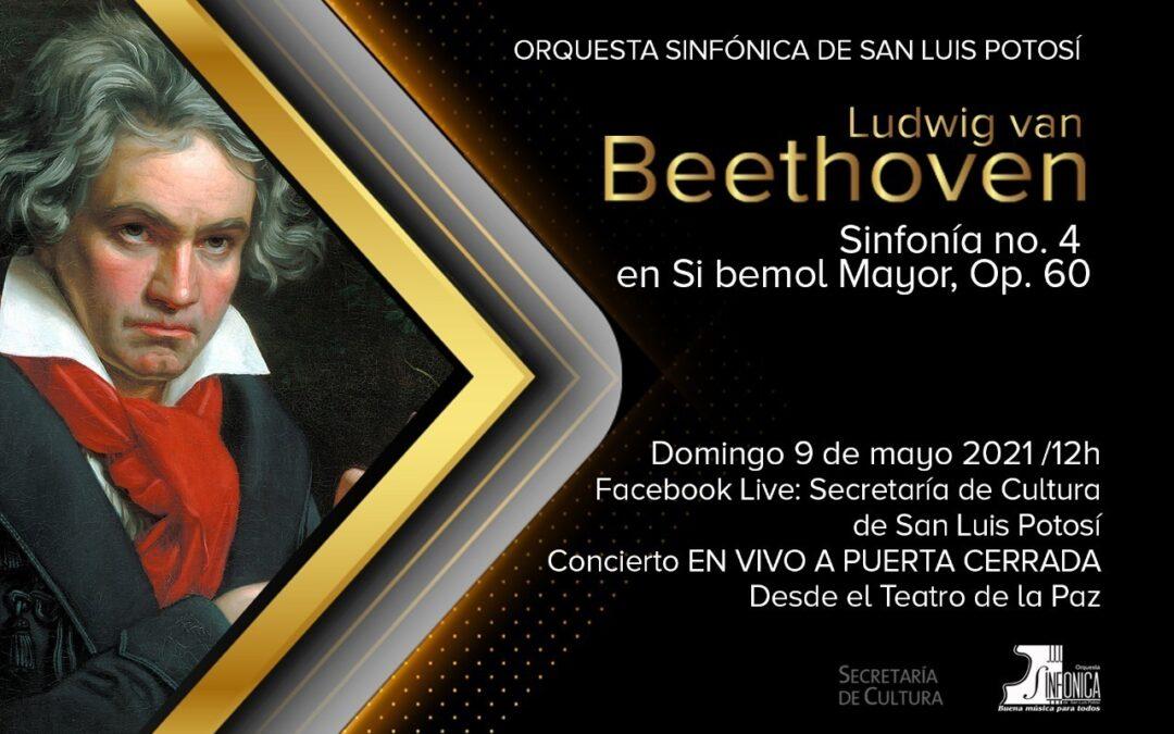 OSSLP interpretará cuarta sinfonía de Beethoven en concierto virtual