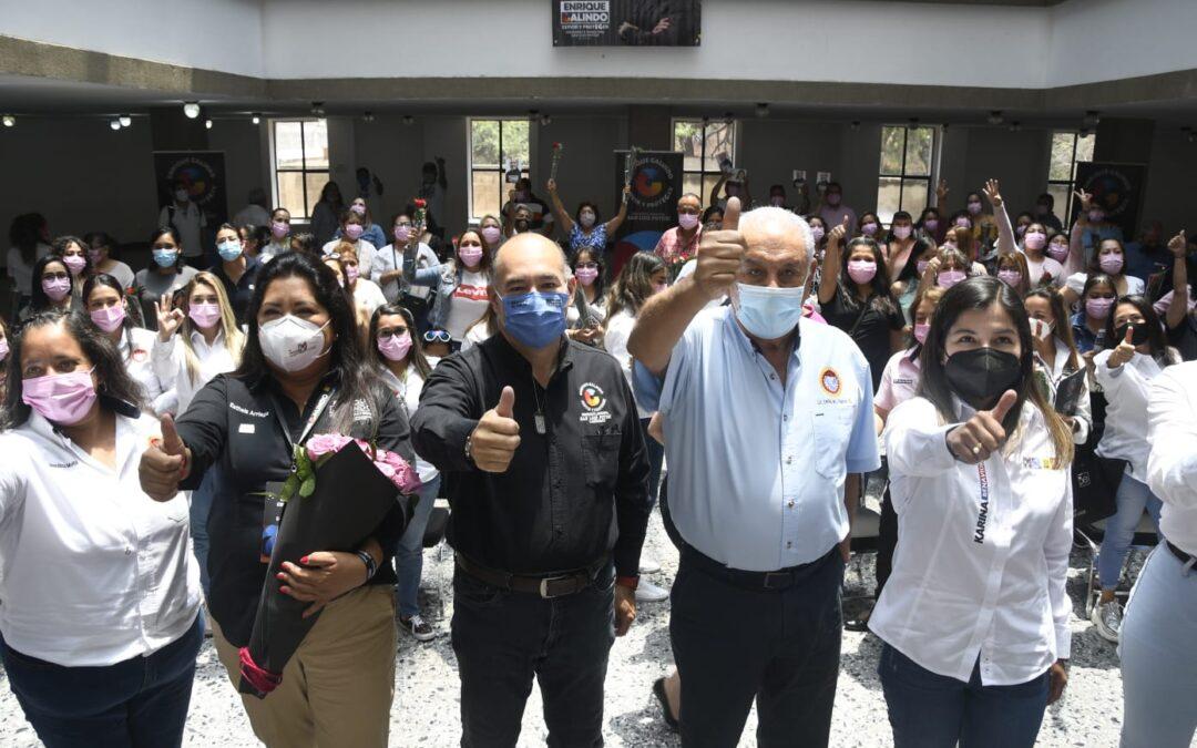 Las mujeres de la CTM reafirman su apoyo a Enrique Galindo Ceballos