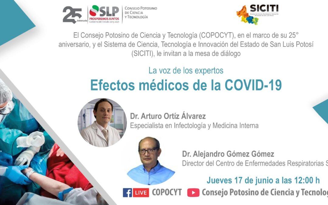 """COPOCYT realizarán mesa de diálogo """"Efectos médicos de la COVID-19"""""""